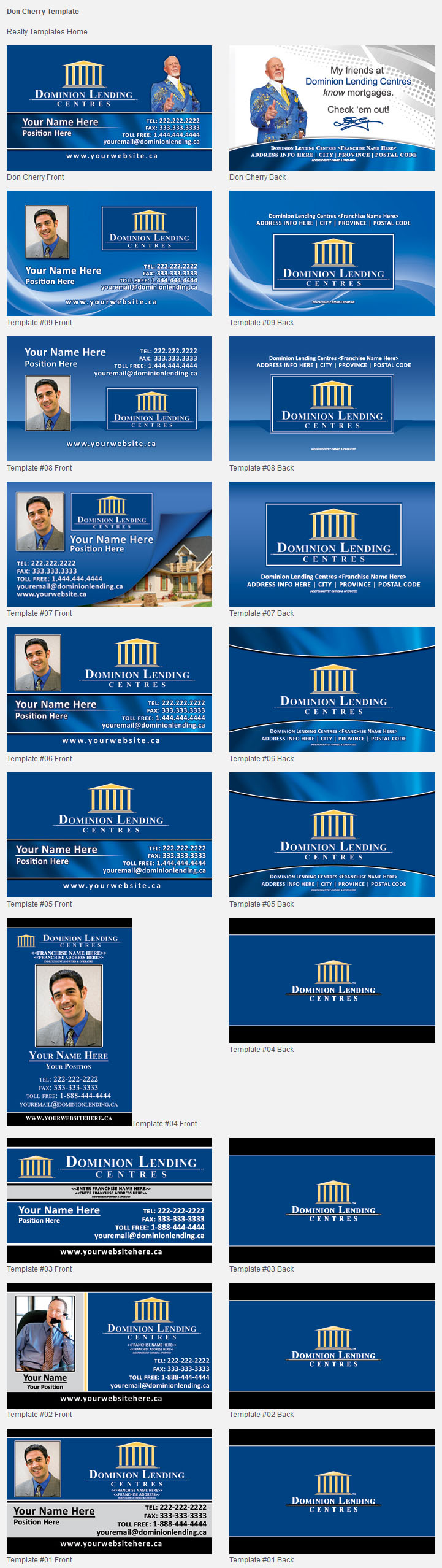Dominion lending design templates unico print media specialty business cards maxwellsz