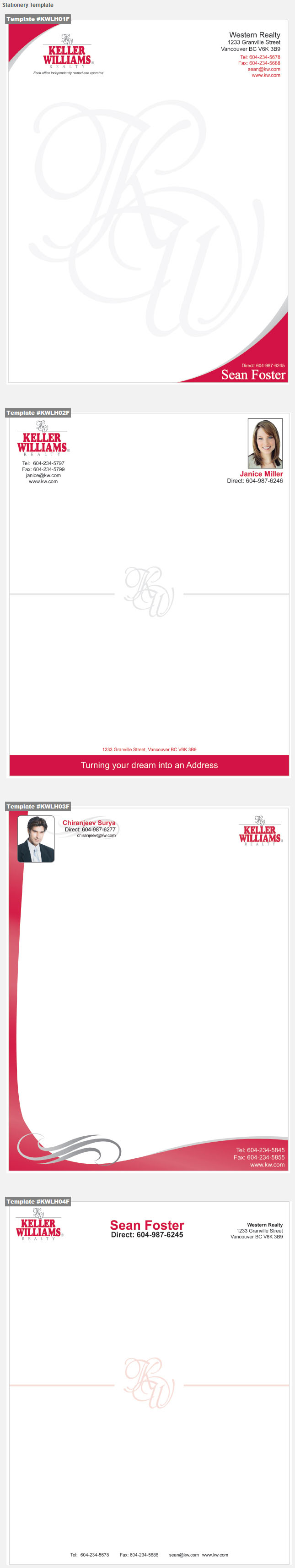 Keller Williams Design Template