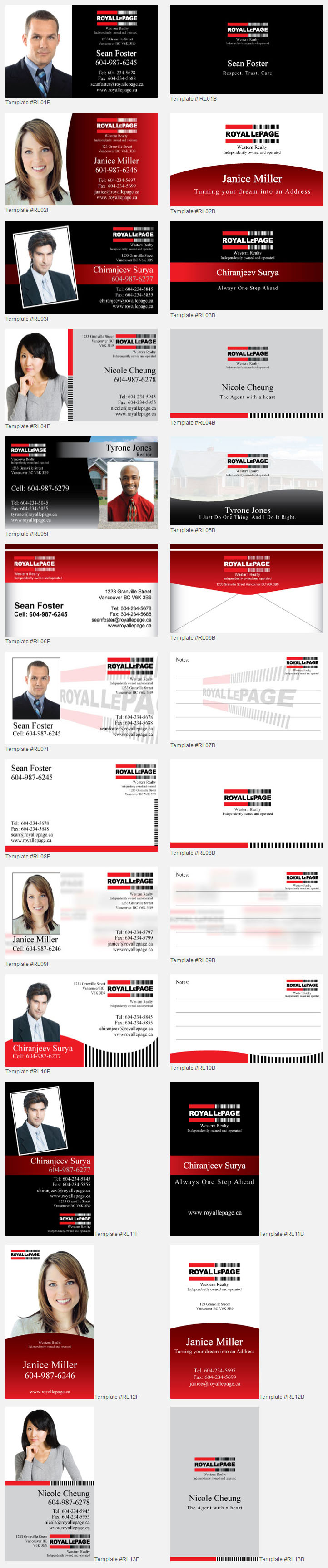 Royal lepage design templates unico print media specialty business cards reheart Image collections