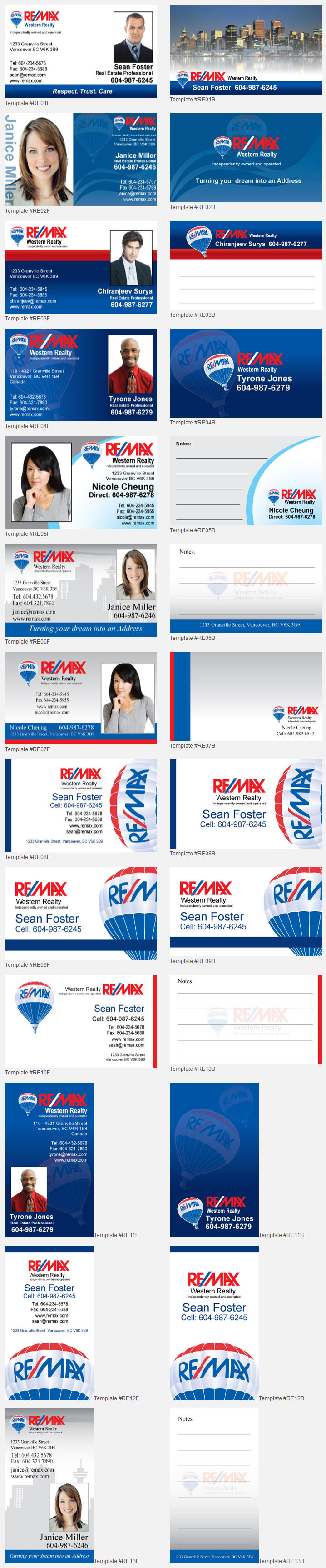 Remax Design Templates Unico Print Media Specialty Marketing