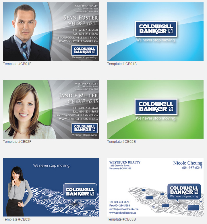 Coldwell banker design templates unico print media specialty business cards reheart Gallery